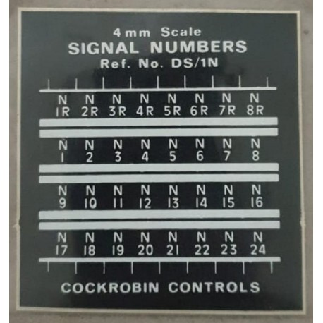 ** DS/1N Cockrobin Controls 4mm Scale 00/HO British Signal Numbers