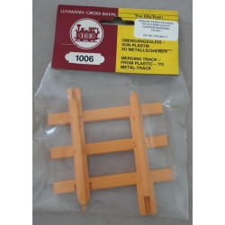 LGB 1006 Merging Track From Plastic to Metal Track G Scale x 1 piece