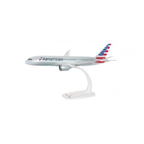 ** Herpa Snap Fit 610551 American Airlines Boeing 787-8 Dreamliner