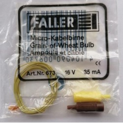 ** Faller 673 Spare Part Small Amber Grain of Wheat Bulb  (1) 16V