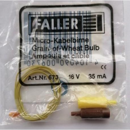 ** Faller 673 Spare Part Small Amber Grain of Wheat Bulb  (1) 16V