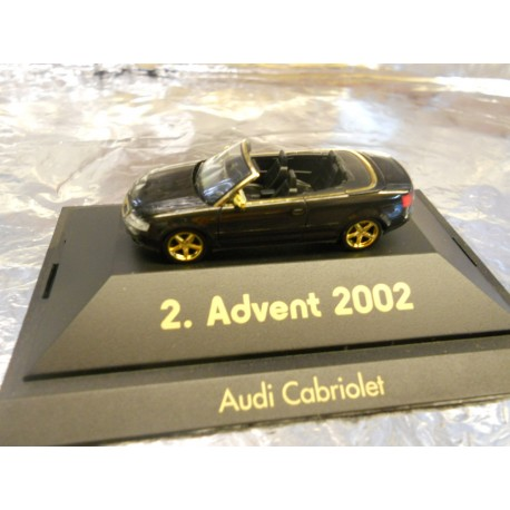 ** Herpa 20022  Advent 2  2002 Black Audi Cabriolet with Display Case