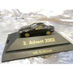 ** Herpa 20023 Advent 3 2002 Black MB SL Klasse with Display Case