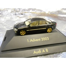 ** Herpa 20031 Advent 1 2003 Black Audi A 8 with Display Case