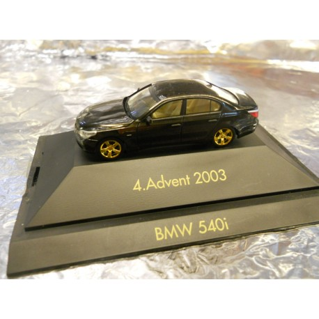 ** Herpa 20034 Advent 4 2003 Black BMW 540i with Display Case