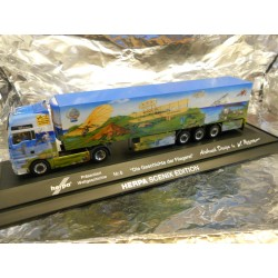 ** Herpa 461023 MAN TGA XXL Refrigerated Box Trailer Herpa Presents VI PC with Light and Sound