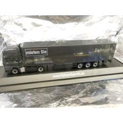 "** Herpa 287807 MAN TGX V8 Refrigerated Box Semitrailer ""Fuhrparkprofis"", PC"