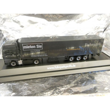 "** Herpa 287807 MAN TGX V8 Refrigerated Box Semitrailer ""Fuhrparkprofis"", PC"