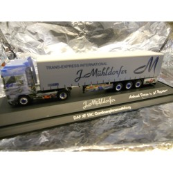 ** Herpa 275545 DAF XF SSC Curtain Canvas Semitrailer Spedition Mühldorfer