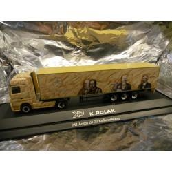 ** Herpa 120784 Mercedes Benz Actros LH Box Semitrailer K Polak (PL)