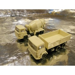 ** Wiking 09450721 Cement Mixer & Tipper Lorry Unpainted