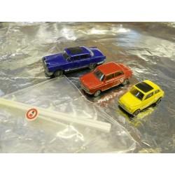** Busch 5995 3 x 1960's Cars Mercedes 230, Fiat 500, NSU 1000TT.
