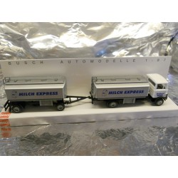 ** Busch 40724 Mercedes LP809 Milk Tanker with Tanker Trailer