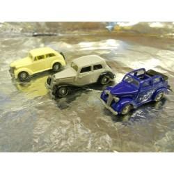 ** Busch 6000 3 x 1930's Cars, Ford Eifel, Opel Olympia, Mercedes 170V.