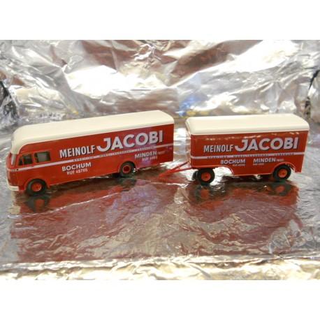 "** Brekina 57750  Lorry with Trailer  "" Meinolf Jacobi ""."