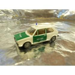 ** Brekina 25506 VW Golf Police Vehicle White/Green