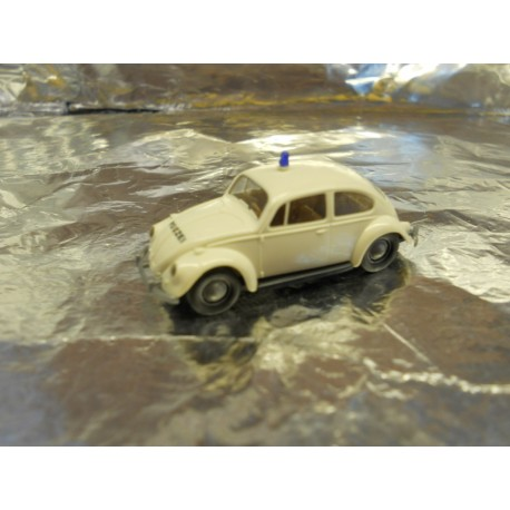 ** Brekina 25202 VW Beetle White Police Vehicle