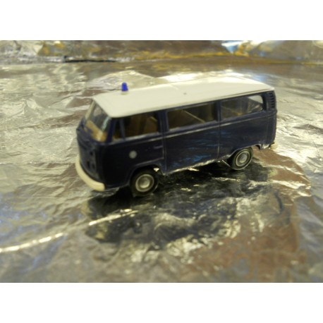 ** Brekina 33084 VW T2 Mini Bus Blue White Roof