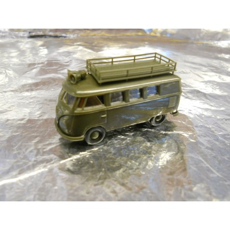 ** Brekina 33171 VW T2 Military Bus with Top Carry Frame