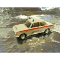** Brekina 24020 BMW 1602 Emergency Doctor White with Red Stripe