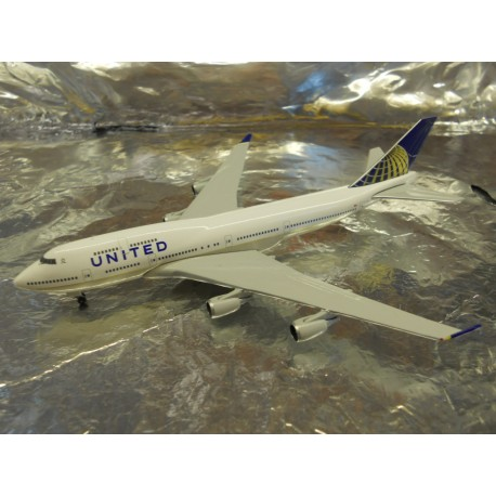 ** Herpa Wings 518581-002 United Airlines Boeing 747-400