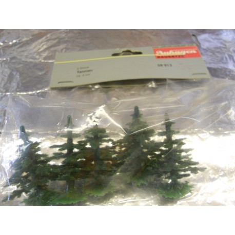 ** Auhagen 58913 Small Fir Trees  Pack of 5 Approx 50mm