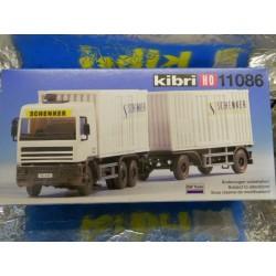 "Kibri 11086  D A F  Lorry and Trailer   "" Schenker "" Kit"