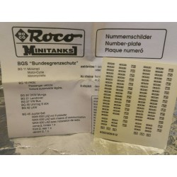 "** Minitank 609  BGS Bundesgrezschutz  "" Motor Cycle  Number Plates ""."
