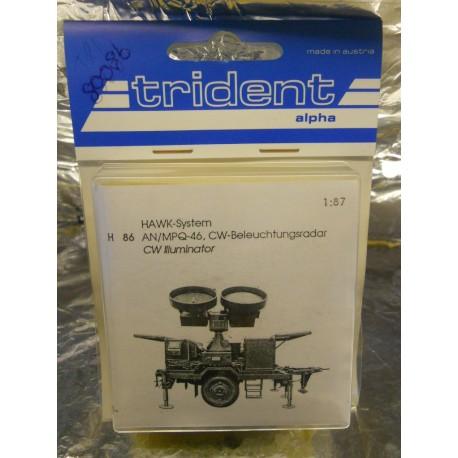 ** Trident 80086 Mobile AN/MPQ-46 Hawk System CW Illuminator Whitemetal Kit