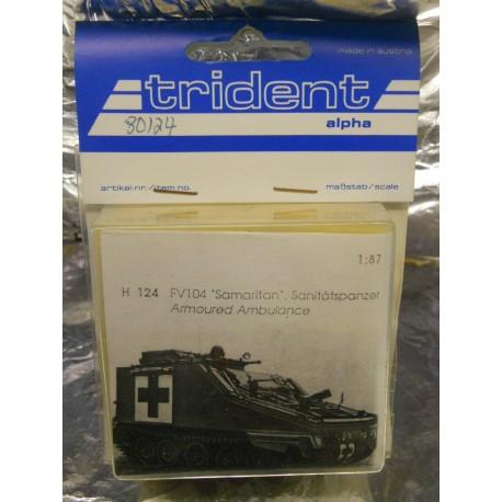** Trident 80124 FV104 Samaritan Armoured Ambulance Whitemetal Kit