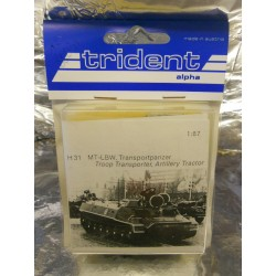 ** Trident 80031 MT-LBW Troop Transporter Artillery Tractor Whitemetal Kit