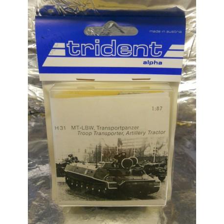 ** Trident 80031 MT-LBW Troop Transporter Artillery Tractor Whitemetal Kit