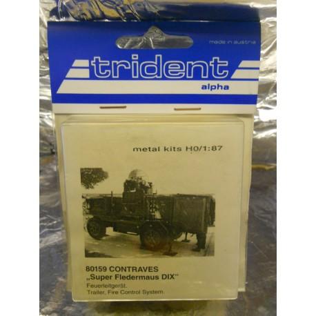 ** Trident 80159 Contraves Super Fledermaus DIX Whitemetal Kit