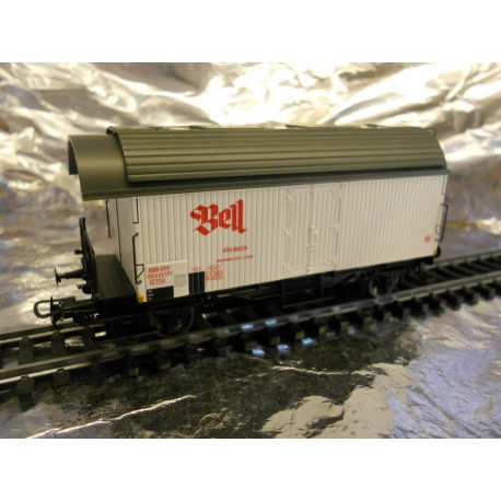 "** Liliput 223022  SBB-CFF  Refrierator Wagon with Brakeman""s Platform,  "" Bell "",  Era 111."
