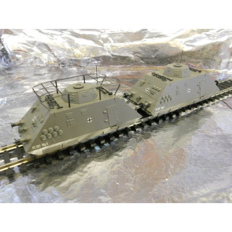 ** Liliput 136502 Military Rail Units Ep11 Set 3 Comando Infantry Scouting Unit with Motor - Analogue