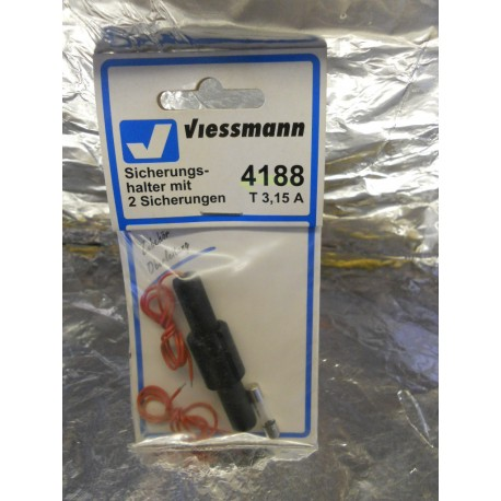 ** Viessmann 4188  Fuse Holder for Catenary, Street, Yard and Staion Lighting Units with 2 x Fuses