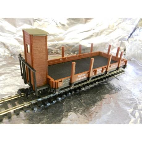 ** Fleischmann 2466  Magic Train Stake Wagon with Brakemans Hut