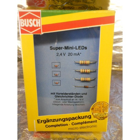** Busch 5980  Super Mini LEDs  Set of 3.  Includes Diodes.