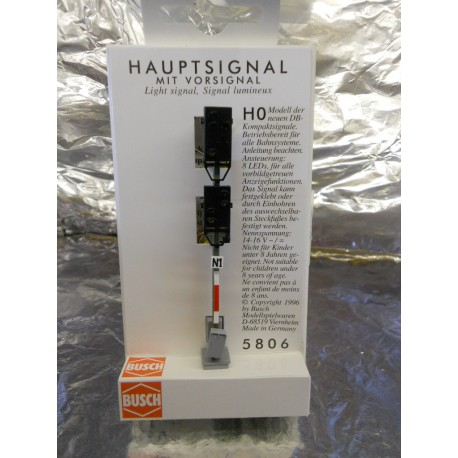 ** Busch 5806  Mainline Signal with Distant Combined  8 LEDs.