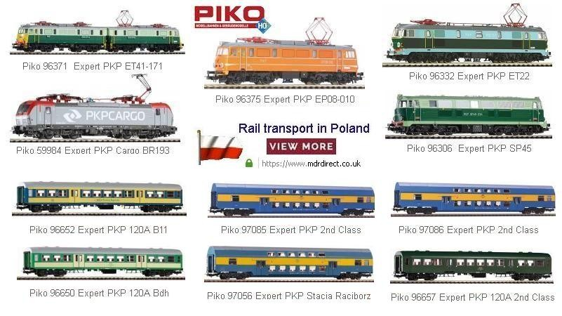 Rail Transport in Poland - HO Representation from Piko - Selected ordered models with eXtra Discount