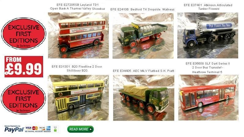 EFE Models from 9.99 GDP Sterling - Click to purchase these nice Models