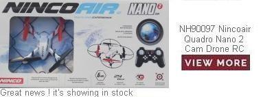 Ninco NH90097 Nincoair Quadro Nano 2 Cam Drone RC Radio Control